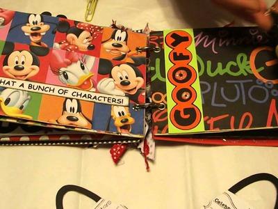 Mickey Minnie Mouse Disney World Magical Moments File Folder Mini Album Scrapbook
