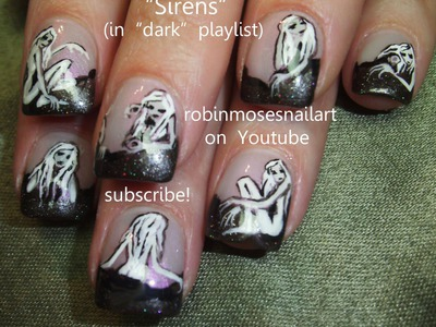 Nail Art Tutorial | DIY Halloween Nails | Zombie Siren Design