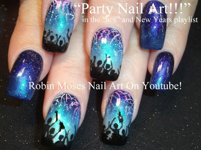 Nail Art Tutorial | DIY New Years Eve Nails | NYE Party nail art design!