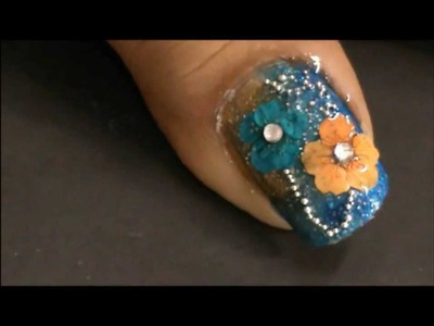 Nail art tutorial dried flowers To Do at Home designs for Beginners DIY Nail Art Designs Tutorial
