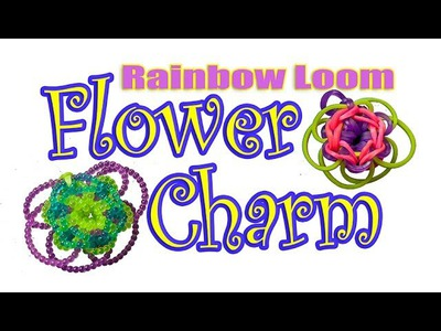 NEW-How to make a Flower Charm Rainbow loom with beads