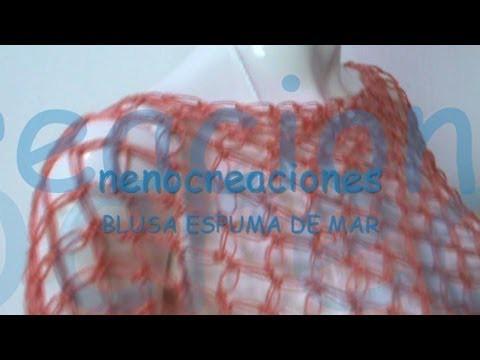 PARTE 2 COMO TEJER BLUSA ESPUMA DE MAR, NUDO SALOMON GANCHILLO CROCHET