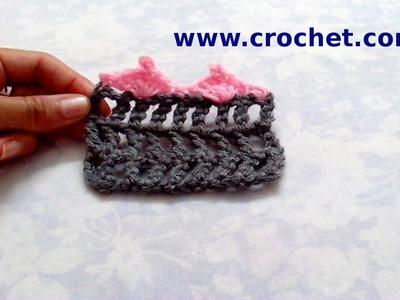 Puntilla N° 64 en tejido crochet tutorial paso a paso.