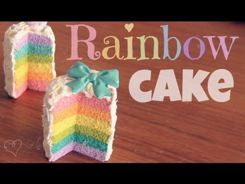 RAINBOW CAKE - Polymer Clay Charm - How To - SoCraftastic