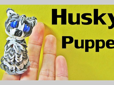 Rainbow Loom Dog. HUSKY Finger Puppet Tutorial