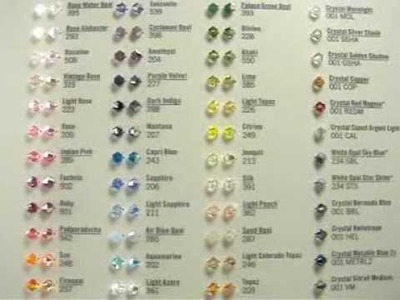 Swarovski Crystal Beads Shape and Color Cart - Crystallized Swarovski Elements