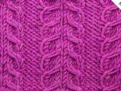 The Inverted Gull Cable Panel Stitch :: Knitting Stitch #522 :: Right Handed