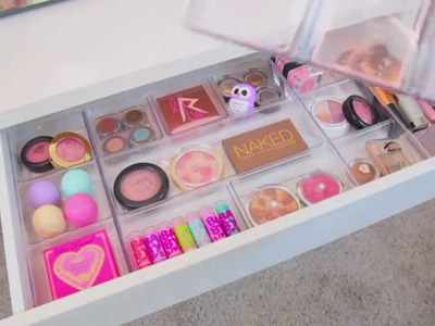 Vanity Makeover ~ Makeup Organization & Storage Ideas
