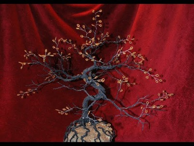 Wire Bonsai Tree with Beads - Autumn Bonsai