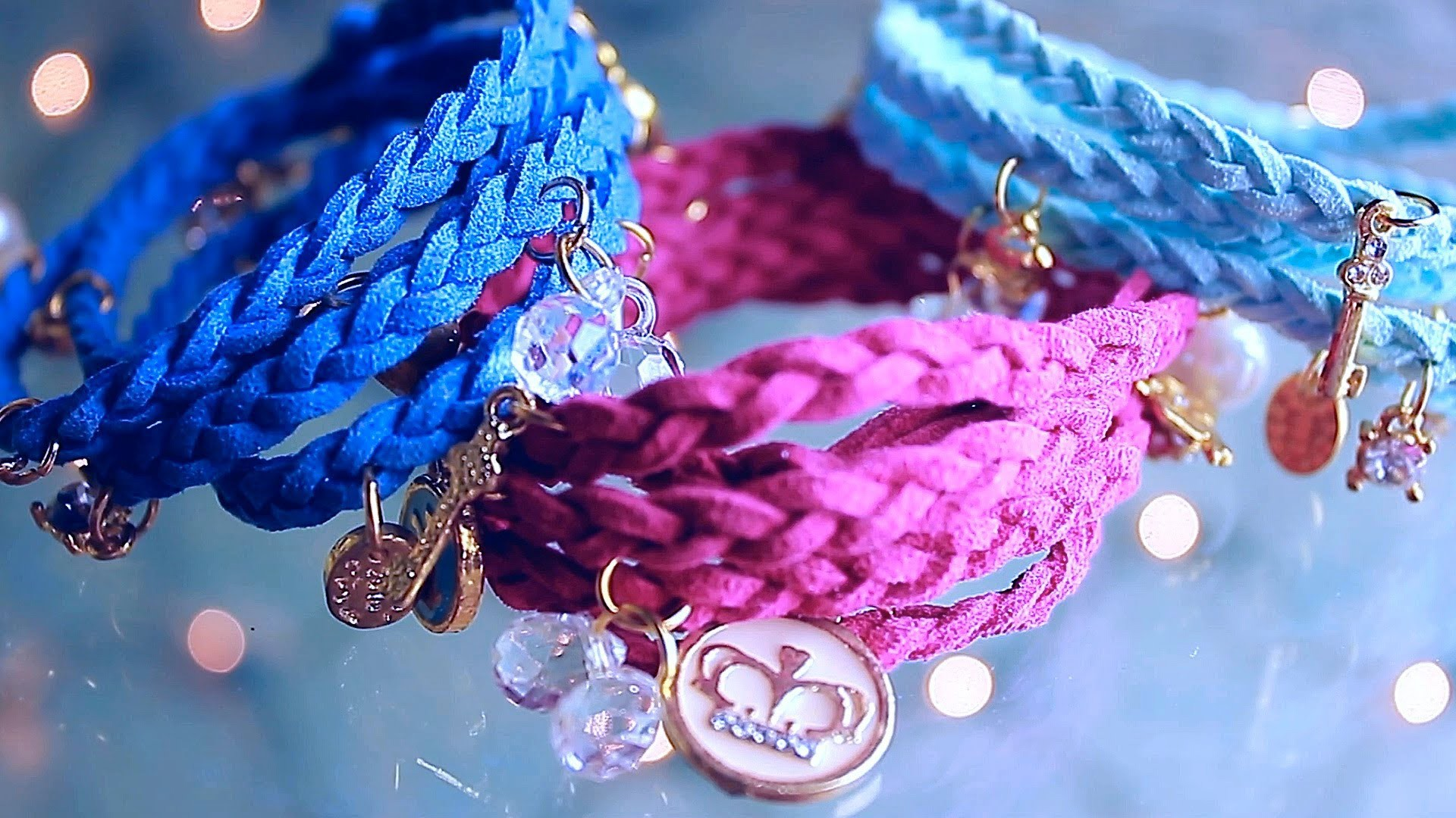 Wrap Braided Charm Bracelets DIY