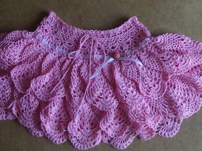 Юбочка крючком для девочки. Часть 3 . Skirt crochet for girl