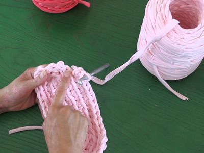 Zapatillas hechas a mano | Tutorial DIY Crochet XXL Trapillo Parte 2.4