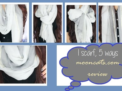 5 Ways to Style a Scarf | Mooncats Review - Traceybeauty