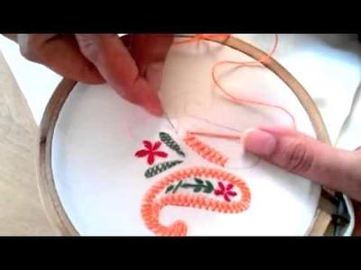 Basic Embroidery  Herringbone stitch