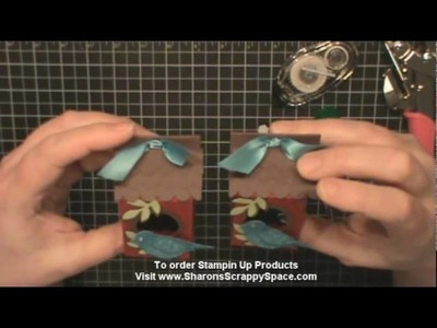 Birdhouse Using Mini Milk Carton Die From Stampin Up