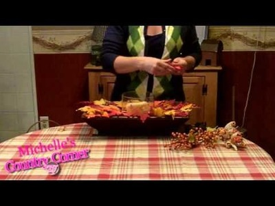 Country Home Decorating Ideas  -  Fall Table Centerpiece