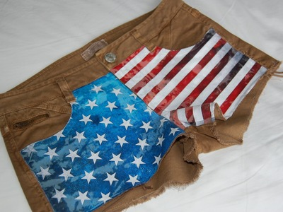 Diy American Flag Shorts (Inkjet Transfer Paper)