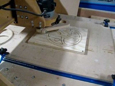 DIY CNC Router Cutting 80 tooth gear and pinion
