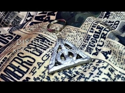 DIY Deathly Hallows keychain using polymer clay