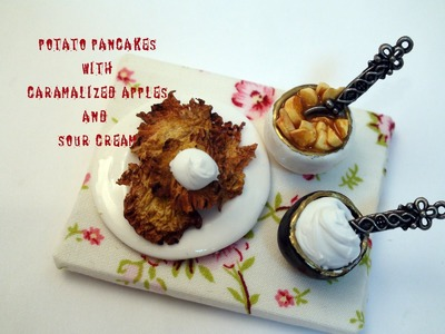DIY: How To Make Miniature Potato Pancakes with Polymer Clay