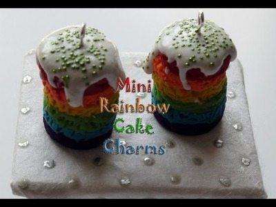 DIY: How To Make Polymer Clay Rainbow Cake Charms