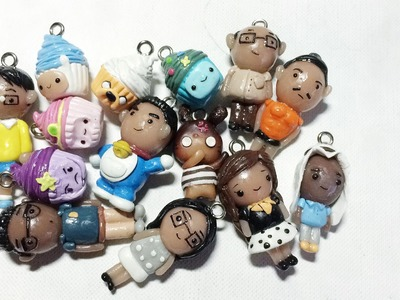 • ◡ • Polymer Clay Charms Update #7 : Cupcakes & Chibis etc