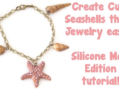 Easy Polymer Clay Seashell Charms Tutorial! Silicone Mold Edition.