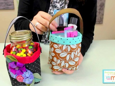 Fabric Quart Jar Container by Precious Patterns