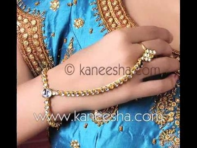 Finger Ring Bracelet Fashion 2011, Designer Indian Ring
