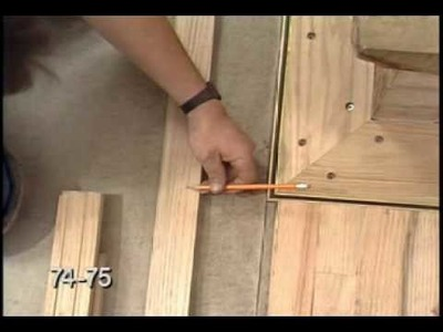 "Hardwood Floor Racking, Nailing, Cutting and Fitting -  ""Laying Hardwood Floors"" Part 4 of 8"