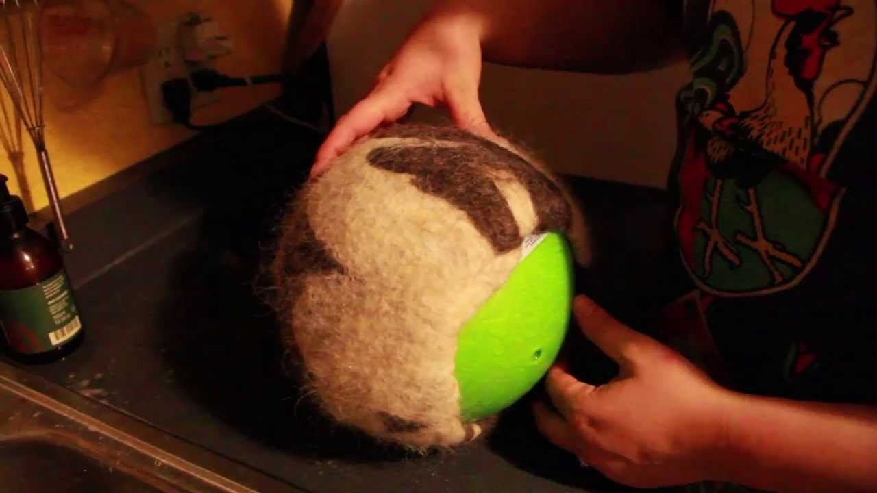 Hat Felting Process (on a Ball)