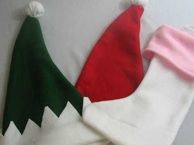 Holiday : How To Make a Santa Hat, Elf Hat and Stockings : SecretLifeOfABioNerd