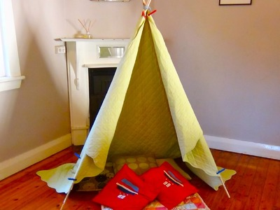 How to Build a teepee: Make your own indoor teepee or indoor cubby
