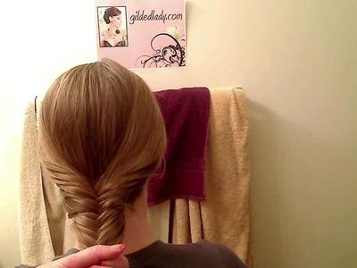 "How to do a Herringbone ""Fishtail"" Braid Tutorial"
