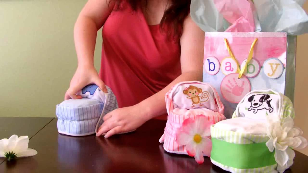 How to make a Diaper Cake -Small Bassinet for baby shower