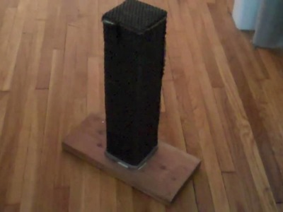How to Make a Scratching Post that Actually Works: Cat Uses This Homemade Scratching Post