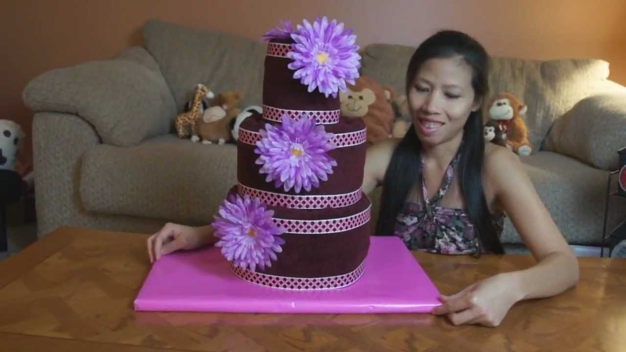 How To Make A Towel Cake (Round Style)