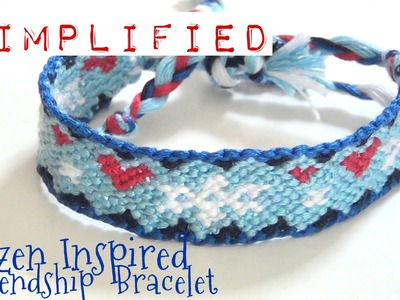 How to Make Friendship Bracelets ♥ Simplified Frozen Inspired Pattern