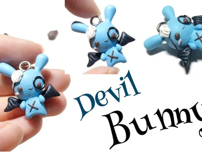 How To : Polymer Clay Devil Bunny Halloween Tutorial