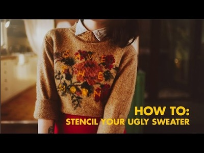 How to: stencil a design on your ugly sweater