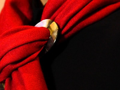 How to tie Scarf Ring - Basic Slide Knot