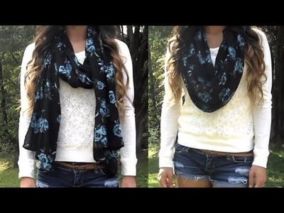 HOW TO. Turn Your Scarf into an Infinity Scarf (No Sew)