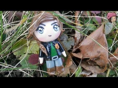 Katniss Everdeen Hunger Games Chibi Polymer Clay Tutorial. Arcilla Polimérica