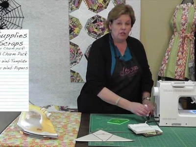 Make a Spiderweb Quilt with the Wacky Web Template