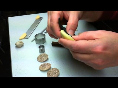Making Polymer Clay Buttons with embedded Shank - Part 1 of 2