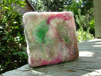Making Wool Felt Soap with Carded Art Batts
