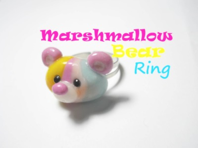 Marshmallow Bear Ring ʕ•ᴥ•ʔ Polymer Clay Tutorial (How to ~ DIY)