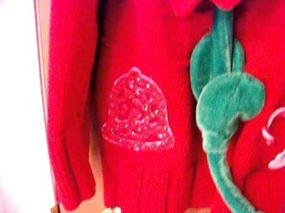 My Decorated and Very Heavy Ugly Christmas Sweater!