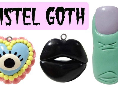 Pastel Goth or Halloween DIY Polymer Clay Charms!!