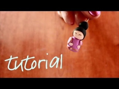 Polymer clay tutorial: china doll #2. Fimo tutorial: bambolina #2